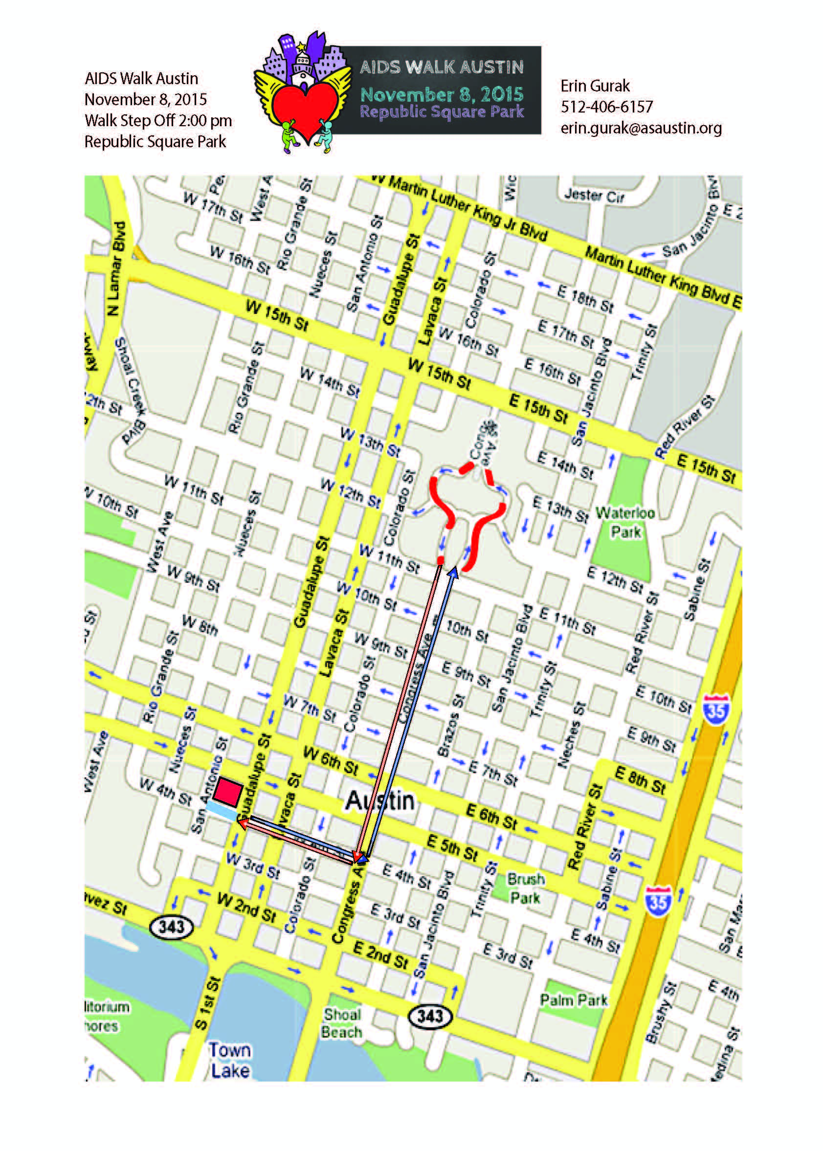 AIDS Walk 2015 Route